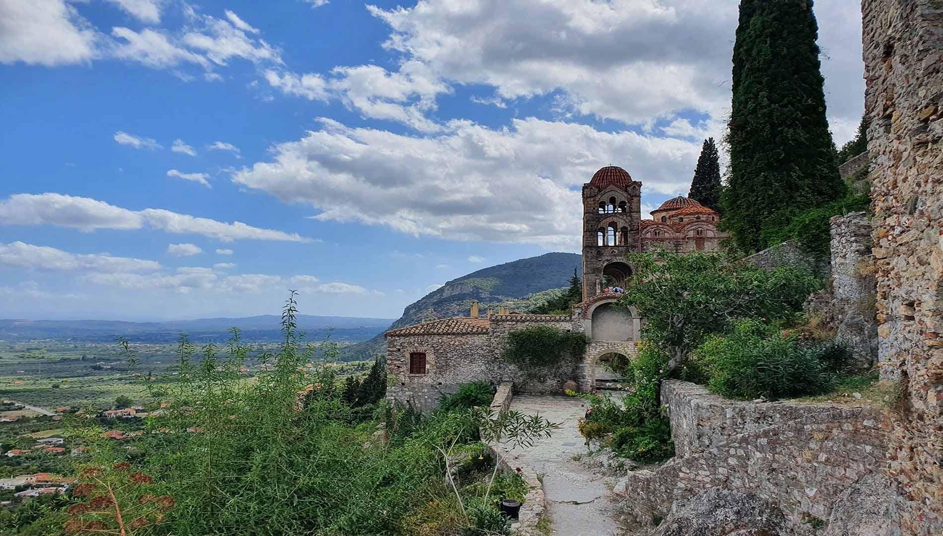 Day 9 : Kalamata - Taygetos mountain - Byzantine ruined city of Mystras - Museum of Olive Tree - Sparta -  Motorway -  Kalamata Km 170.