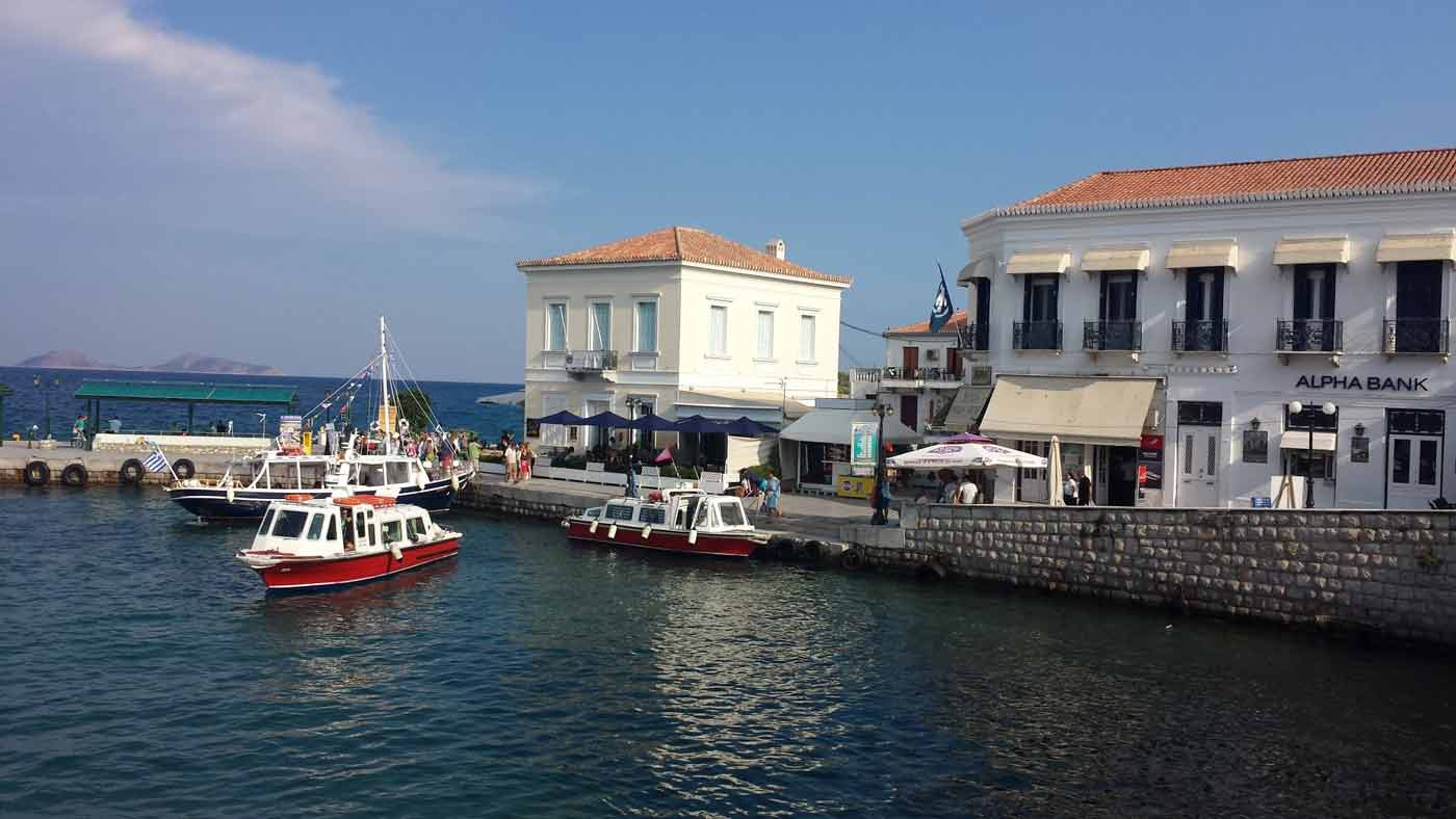 3rd day Sunday : Spetses - free time and lazy morning - Porto Heli or Kosta or Piraeus.